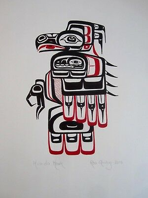 Northwest Coast Art - Traditional Hawk - Original Painting
