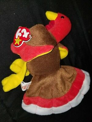 TY Beanie Babies Turkey ** GOBBLES **  New w/ Tag