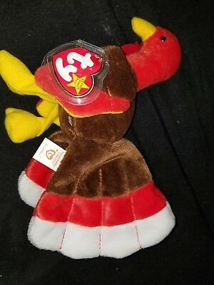 TY Beanie Babies Turkey ** GOBBLES ** 1996 New w/ Tag and tag protector