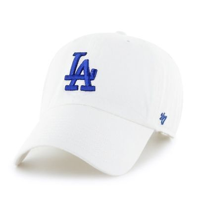 quality design 61ee3 ce955 ... italy 47 brand los angeles dodgers adjustable clean up dad hat cap core  white blue.