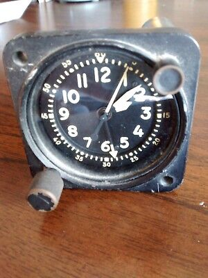 Vintage aircraft clock Waltham with second timer.  Type A-13A-1