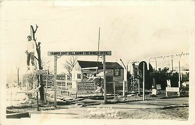 Dodge City KS~Real Photo Postcard~Man Hangs in Tree~Hughes, Kellerville IL 1942