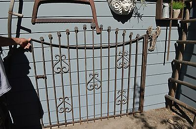 Rustic Wrought Iron Salvaged Antique Gate 1940's
