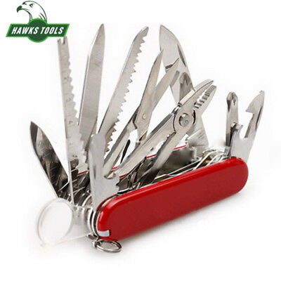 Outdoor Military Survival Multi Tool New Red Folding Pocket Swiss Army Knife