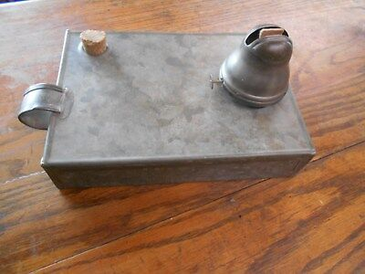 vintage / primitive galvanized ? metal unusual oil / kerosene box lantern