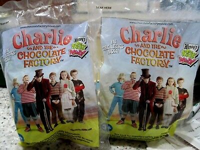 2 Wendy's CHARLIE AND THE CHOCOLATE FACTORY Kid's Meal Toy - Squirrel - MIP