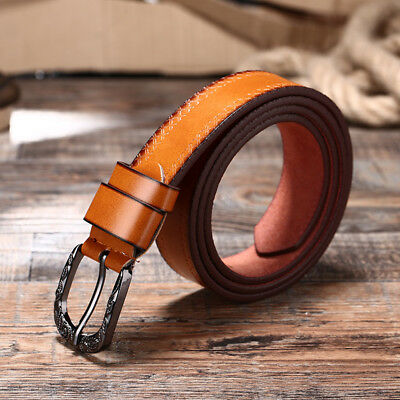 AU Womens Genuine Leather Thin Belts For Jeans Belt For Women's Pants HOT