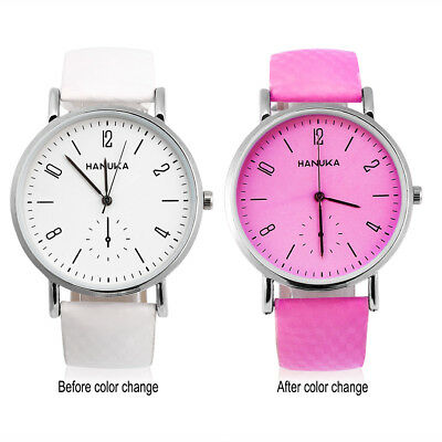 Fashion Color Changing Temperature Quartz Watches Wristwatch Ladies Girl Watch