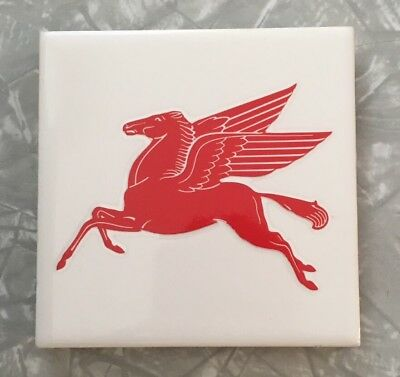 Vintage Mobil Pegasus Gas Station Architectural Salvaged Clay Tile Made In Usa!