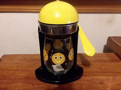 Vintage Juice O Mat Manual Juicer Black and Yellow - Bumble Bee- Rival Mfg. Co.