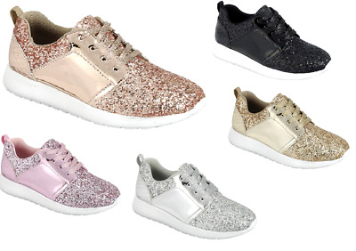 Girl's Youth Kids Sequin Glitter Athletic Shoes Casual Walking Comfort Sneakers