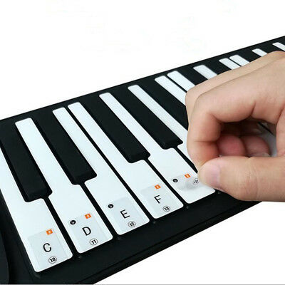 Keyboard / Piano Note Stickers SET up to 88 KEYS the best way to learn Piano