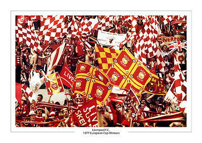 Iconic 1977 European Cup Liverpool Photo A4 Print Photo Fans Photo