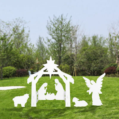 Strong Durable Large Outdoor Nativity Scene Large Christmas Yard Decoration Set
