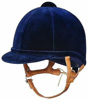 Charles Owen Fian Navy Velvet Riding Hat Great For Showing