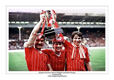 Liverpool 1983 League Cup Photo A4 Photo Print Kenny Dalglish Souness Hansen