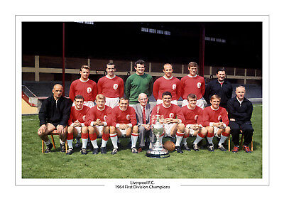 1964 First Division Liverpool Winners A4 Print Photo Champions Trophy