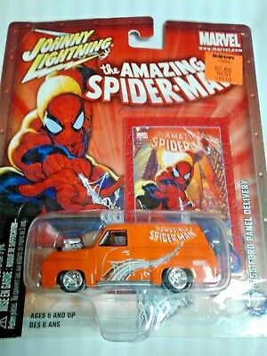 johnny lighting  spiderman 1955 ford panel delivery