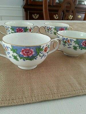 Set Of Four Antique Pointons Stoke On Trent China Cups