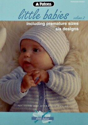 Baby KNITTING PATTERN BOOK Little Babies V2 4ply Patons KNITTING PATTERN BOOK