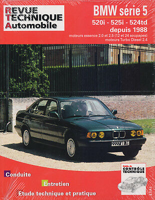 REVUE TECHNIQUE AUTOMOBILE RTA BMW SERIE 5 520i 525i 524td  ESSENCE DIESEL 1988