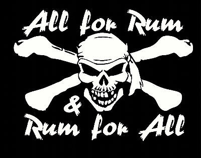 all for rum and rum for all funny novelty t shirt captain morgan s to 4x pirate