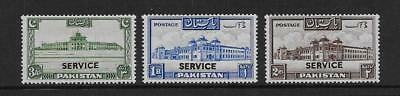 Pakistan  Sg 020 & 023/024  1948 Officials    Fine Mounted (Hinged) Mint