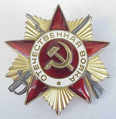1985_Silver. Russian Soviet Military Order Medal Patriotic War Wwii Award Badge