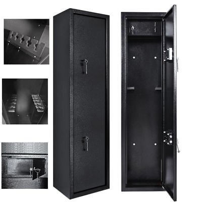 New 3 /6/8/10 Gun Cabinet Security Lockable Safe Storage Rifle Firearm Steel UK