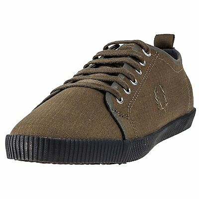 Fred Perry Kingston Shower Resistant Mens Trainers Olive - 9.5 UK