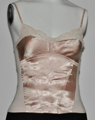 DKNY  Shaping Camisole/ Tank  Stretch Dusty Pink Lace, Cotton, Silk, Lace M