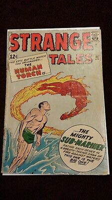 Strange Tales #107 (Apr 1963, Marvel) Human Torch vs Sub-Mariner No Reserve!!