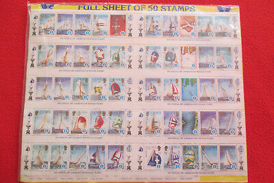 SOLOMON ISLANDS -The Official 1987 Amerika's Cup Postage Stamps ** - kpl. Bogen