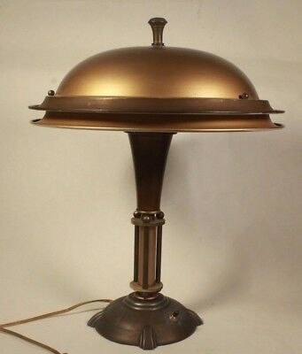 Art Deco Metal Table Lamp 1920's - Very Good Condition