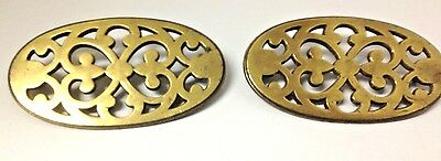 2 Antique solid Brass furniture mounts/embellishments by Keeler Brass Co