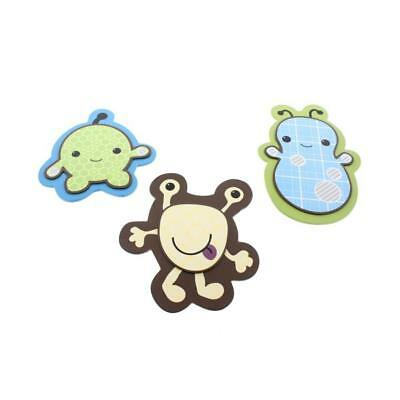 CoCaLo Baby 3371 Peek-A-Boo Monsters Multi Wooden Baby Boy Wall Decor Set BHFO