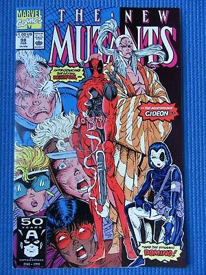 New Mutants # 98 - (Nm) - 1St Appearance Of Deadpool - High Grade - White Pages