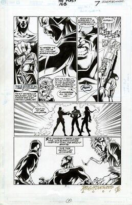 DC Flash # 168 page 7 Original Art Captain Cold and the Rogues