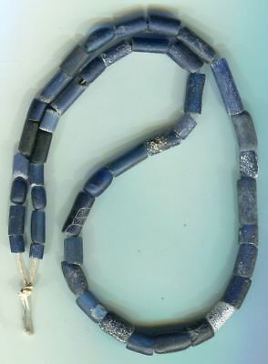 African Trade beads Vintage Venetian glass very old cobalt blue glass beads
