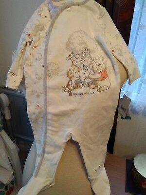 New mothercare baby grow winnie the pooh  6-9 months