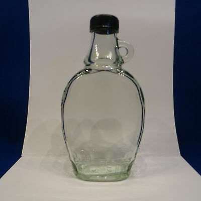 (1) ONE - Maple Syrup Flask Like Bottle with Twist Cap Lid and Handle
