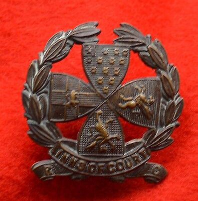 British Army. Inns of Court Reserve Corps Genuine Officer's Collar Badge