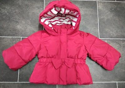 Baby GAP Girls Hooded Red Padded Coat 6-12 Months. Used