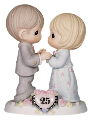 Precious Moments,  Our Love Still Sparkles In Your Eyes, 25th Anniversary, Bisqu