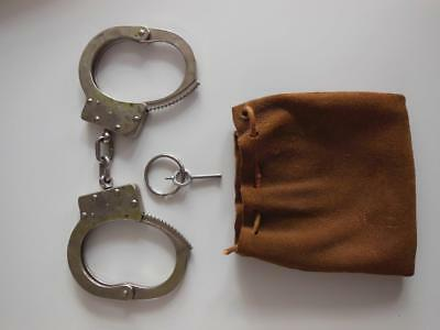 Vintage Handcuffs-American Munitions Co. Fond Du Lac, Wi With Key