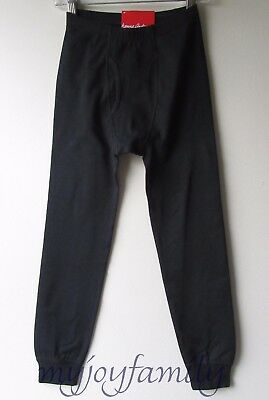 HANNA ANDERSSON Organic Stretch Unders Long Underwear Black L 140 150 10 12 NWT