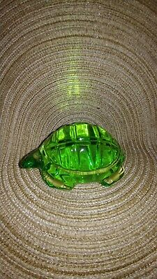 Baccarat Green Crystal Turtle Paperweight Or Figurine