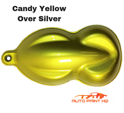 CANDY YELLOW OVER Silver Basecoat Tri-Coat Gallon Car Vehicle Auto Paint Kit