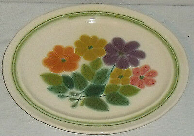 "Franciscan Serving Platter Tray 13.5"" FLORAL US Backstamp Vtg 1977 Plate"