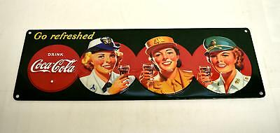 Ande Rooney Tin Sign - Coke Military Beauties Coca Cola  - New